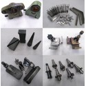 Lotto di accessori per fresa metalmeccanica, coni, supporti, ecc